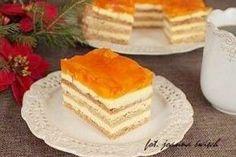 sernik przekładany ciastem miodowym