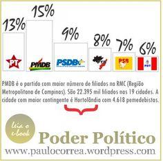 """Perfil do eleitorado na RMC disponível no e-book """"Poder Político"""""""