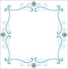 Scroll Frame All Occasion Paper Embroidery Pattern for Greeting Cards