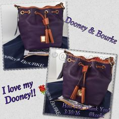 Dooney & Bourke purse Stunning purple Dooney & Bourke purse. Drawstring handle to close the top. Signature red inside the purse. Yes it authentic. Dust bag and paper included. Dooney & Bourke Bags Shoulder Bags