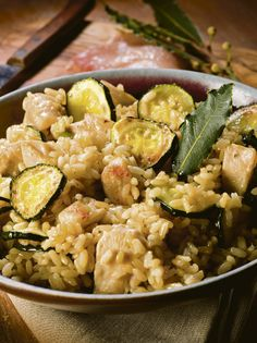 Chicken Risotto with Zucchini (all-in-one dish) - minus the pancetta