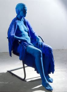 George Segal Blue Woman in Black Chair, 1981