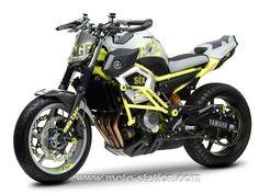 News moto 2013 : Concept Yamaha Cage Six, la XJ6 à l'école du stunt !