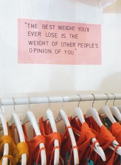 The best weight you'll ever lose is the weight of other people's opinion of you Pretty Words, Beautiful Words, Cool Words, Wise Words, Mood Quotes, Positive Quotes, Motivational Quotes, Inspirational Quotes, Reminder Quotes