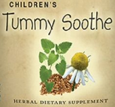 Childrens Tummy Sooth Formula Liquid Herbal Tincture Nursing Mothers