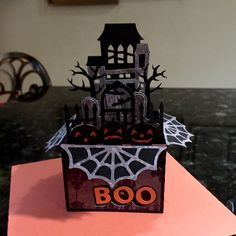 Halloween Box card using Fright Night from svgcuts.com and cricut explore. #svgcuts #cricut