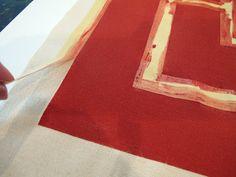 DIY Fabric Printing Using Screen Print Paint