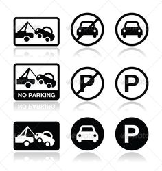 Realistic Graphic DOWNLOAD (.ai, .psd) :: http://jquery-css.de/pinterest-itmid-1005277744i.html ... No Parking Signs ...  attention, auto, car, caution, close, drive, icon, message, no, not, parking, prohibited, prohibition, restricted, road, sign, street, symbol, tow truck, traffic, transport, truck, vector, vehicle, warn, warning  ... Realistic Photo Graphic Print Obejct Business Web Elements Illustration Design Templates ... DOWNLOAD…