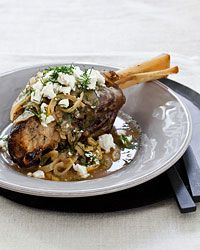 Slow Cooker Lamb Shanks with Lemon, Dill and Feta Recipe - Melissa Rubel Jacobson | Food & Wine