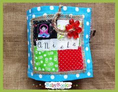 Baby Quiet Book cover. Baby Quiet Book, Quiet Books, Book Activities, Coin Purse, Lunch Box, Feelings, Learning, Cover, Studying