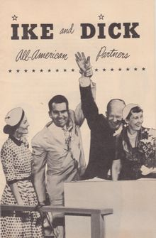 A piece of literature for the Eisenhower–Nixon campaign, 1952 President and Vice President in 1958 .