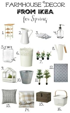 Farmhouse decor by IKEA for spring - # Spring . Farmhouse decor from IKEA for spring - Always aspired to discover how to knit, alth. Decor, Home Decor Kitchen, Home Decor Accessories, Home Decor Bedroom, Farmhouse Decor, Home Decor, Ikea Farmhouse, Country House Decor, Rustic House