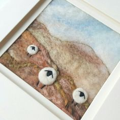 Check out this item in my Etsy shop - wet felting, needle felting, free motion embroidery and hand embroidery  - Sheep on a Shropshire Hillside https://www.etsy.com/uk/listing/453785388/sheep-in-a-shropshire-hay-meadow
