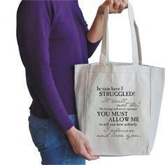 46cf2af7e25f mr darcy proposal canvas tote bag.  15.00