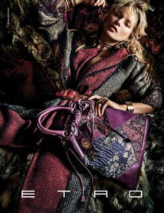 Kate Moss for Etro ad campaign Fall 2015. Ph. by Mario Testino.