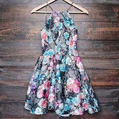 floral fit & flare dress (more colors/prints) - shophearts - 6
