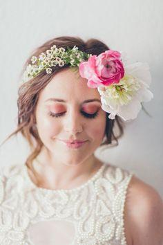 Quick Bridal Makeup : 1000+ images about Floral Crown on Pinterest Floral ...