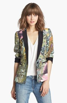 Maison Scotch Tropical Print Blazer 1
