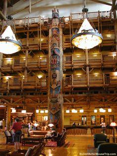 Lobby at Disney's Wilderness Lodge - Disney World / Florida. ~ LOVED IT!