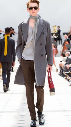 Dark grey melange Cashmere Wool Blend Topcoat - Image 6