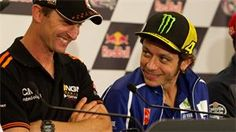 Valentino Rossi, Marc Marquez and Nicky Hayden talk Colin Edwards memories at CoTA press conference.