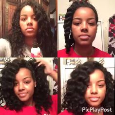 Since I have heat damage I do these Jumbo flat twist to give my hair a natural Wave look. I used @mielleorganics Leave-in Conditioner after I washed my hair. The frizz doesn't bother me, I embrace it...