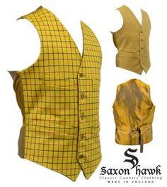 Yellow Check Waistcoat
