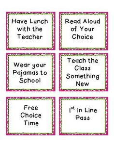 """Classroom rewards""..."