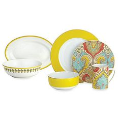 Echo is crazy for paisley! Add a splash of fun, bold paisley to your table with the Latika Dinnerware collection by Echo Design.