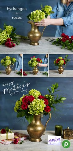 """This Mother's Day gift is pretty and practical. Celebrate the """"hostess with the mostest"""" in your family with a DIY bouquet made with flowers from your local Publix and a beautiful, decorative pitcher."""