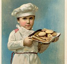 Cute Vintage Baker Boy Image!