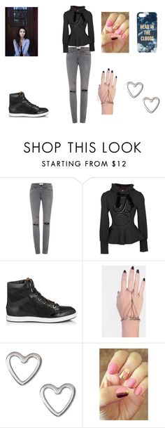 """""""Untitled #5"""" by cutelittlebutton ❤ liked on Polyvore featuring Frame Denim, Jimmy Choo, INDIE HAIR, Rad Nails and Kate Spade"""