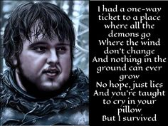 samwell tarley image by masteryue on deviantart, lyrics from alive by sia