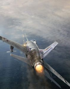 """F-100 Super Sabre"" Although the F-100's war consisted primarily of…"