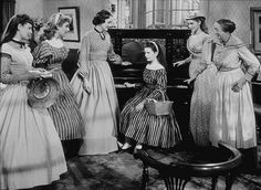 'Little Women' starring June Allyson, Elizabeth Taylor, Mary Astor,Margaret O'Brien, Janet Leigh and Elizabeth Patterson as Hannah Old Hollywood Stars, Hollywood Icons, Golden Age Of Hollywood, Classic Hollywood, Hollywood Music, Hollywood Actresses, Elizabeth Patterson, Elizabeth Taylor, Louisa May Alcott