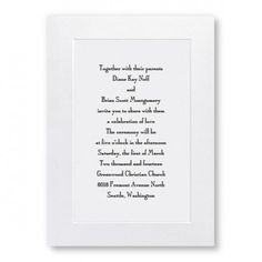 Classic Shimmer Wedding Invitations, thermography