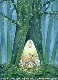 Sweet illustration by Marla Frazee who is an American author and illustrator of children's literature. She has won two Caldecott Honors for picture book illustration. Art And Illustration, Book Illustrations, Marla Frazee, Illustrator, I Love Books, Childrens Books, Book Art, Fantasy Art, Drawings