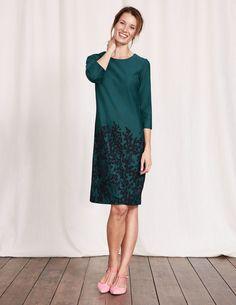 Comma ausdrucksstarkes abendkleid mit elegantem minimalmuster