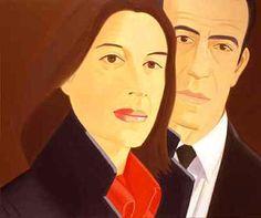 Ada and Alex. 1980.  Alex Katz