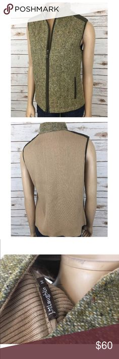 """J.McLaughlin Tweed Vest Jacket Zip Front Wool M Tag Size - M Bust Measured Across - 20"""" Length from Shoulder to Hem - 22.5"""" Great used condition! Always open to reasonable offers. J. McLaughlin Jackets & Coats Vests"""
