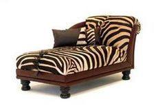 zebra chaise....would add that wow factor to a room!                                                                                                                                                                                 More
