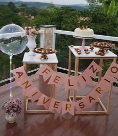 Party Table Decorations Birthday Adults New Ideas 40th Birthday Parties, Anniversary Parties, Happy Birthday, Festa Party, Diy Party, Ideas Party, Party Table Decorations, Birthday Decorations, Ideas Aniversario