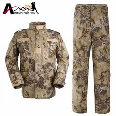 38.35$  Watch now - http://alicps.shopchina.info/go.php?t=32756896218 -  Tactical Training Uniform Sets Shirt & Pants Camouflage Bionic Waterproof Uniform Military Hunting Shooting Wargame Clothes  #bestbuy