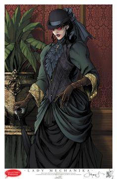 I like the jacket sleeves (I love this comic: Lady Mechanika)