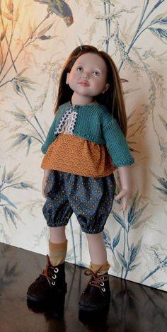 """""""Culottée"""" Patron 3 pièces pour poupée de 40 cm à 48 cm, type Marie-Françoise, Finouche de Petitcollin, et Zwergnase Junior chez Makerist"""