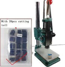 Cuero taladradora máquina de corte de corte con 39 unids herramienta de corte DIY en forma de cuero para carpeta Shose envío gratis(China (Mainland))