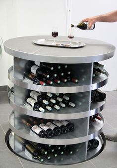 Pop up wine cellar - Now offered in North America by Genuwine Cellars! Traditional Wine Racks, Spiral Wine Cellar, House Extension Plans, Home Wine Cellars, Wine Folly, Wine Cellar Design, Caves, Home Bar Designs, Wine Guide