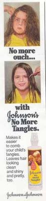 Johnson's No More Tangles...my mother had to use a ton of this product in my hair! I've always had very thick tresses.