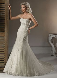 Maggie Sottero:Doreen, gorgeous lace gown available at Ashley Renee' Bridal ! www.ashleyreneebridal.com