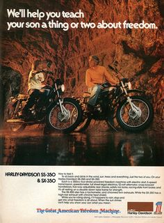 1974 AMF Harley-Davidson SS-350 SX-350 Motorcycle Advertisement Hot Rod February 1974 | Flickr - Photo Sharing!